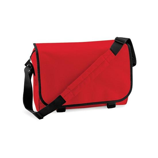 Rode messenger aktetas met schouderband, maar € 16.95 bij